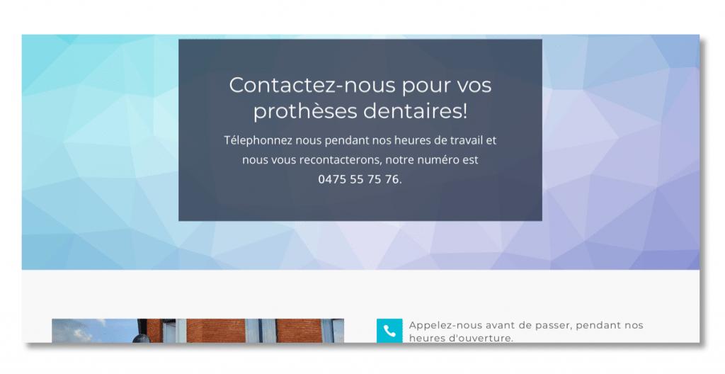 Laboratoire dentaire site web