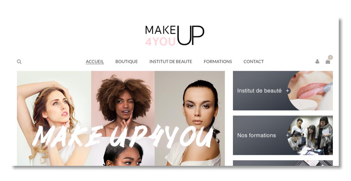 Site web Makeup4you.com