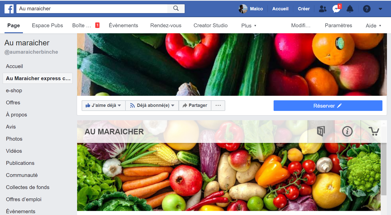 Projet – Au Maraicher