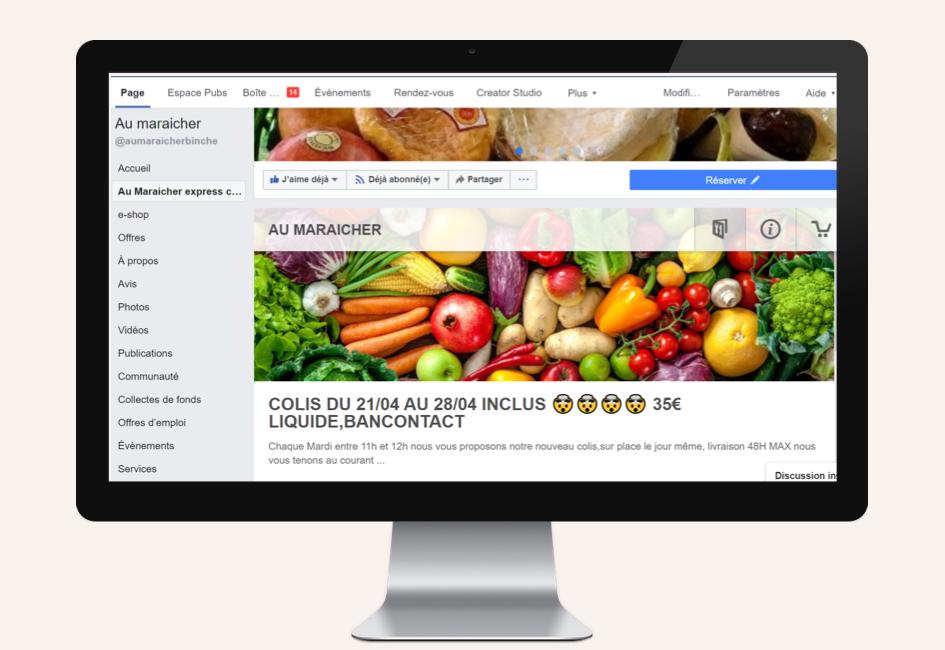 Projet système de commande en ligne au maraicher