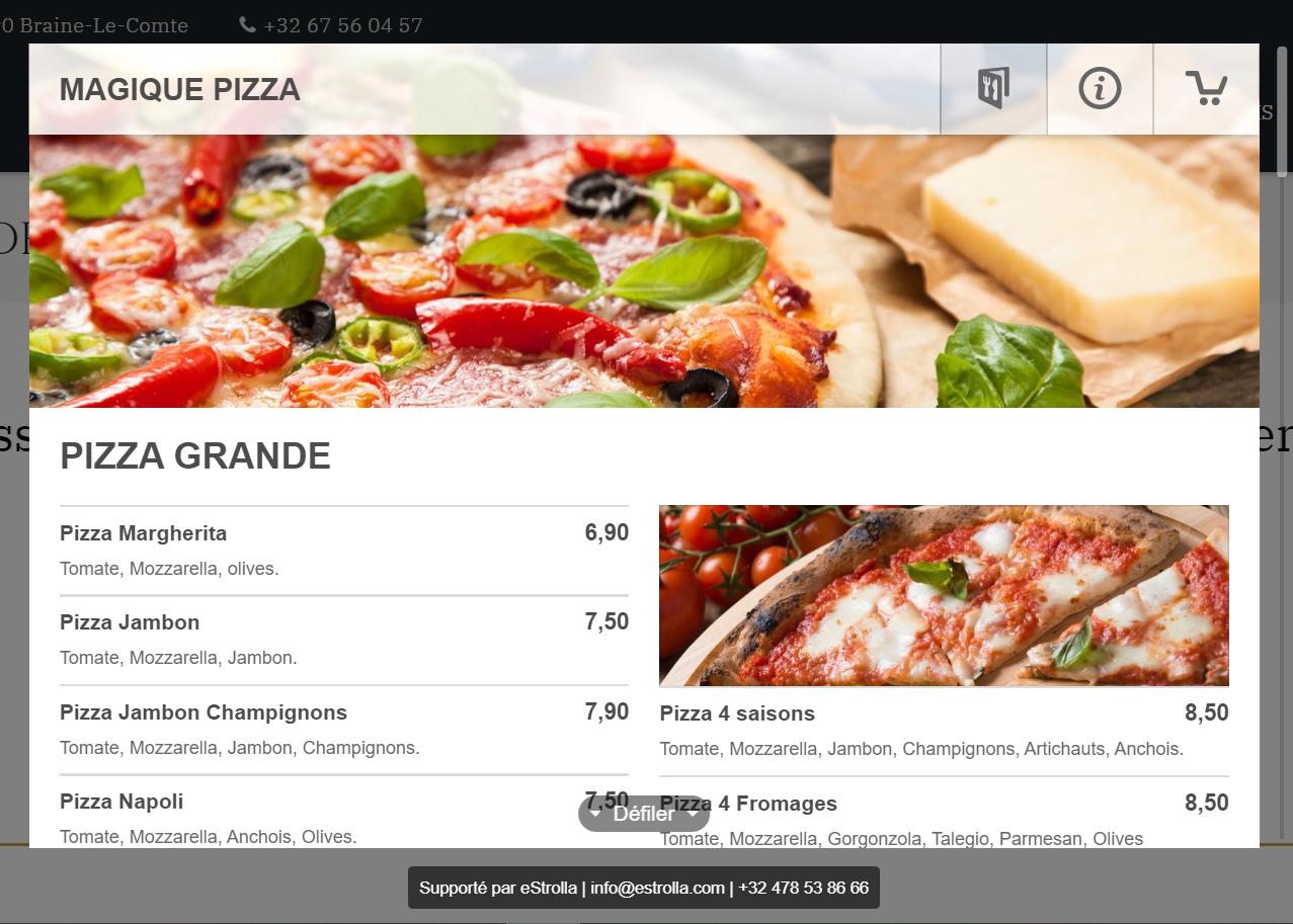 Projet – Magique Pizza